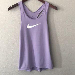 Nike lilac dri fit tank